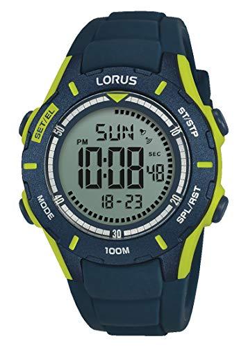 Lorus Orologio Cronografo Digitale Bambino con Cinturino in Silicone R2365MX9