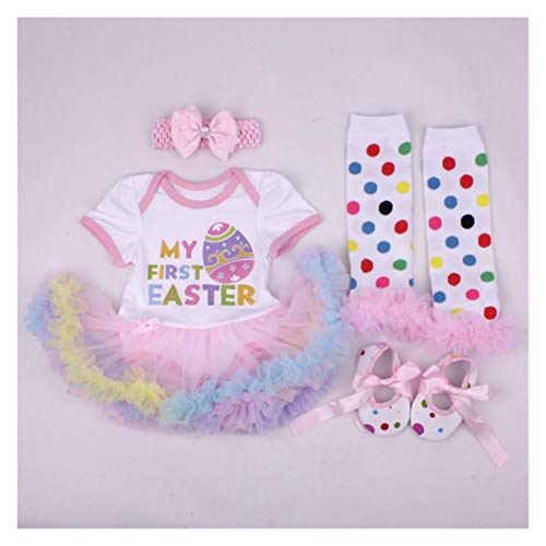 First Easter Day NewBorn Baby Girl Costume Romper Baby Clothes Egg Dress Sets 4PCS Bebe Clothing Kids Infant Dress For Girls (Color : Light Green, Kid Size : 18M)