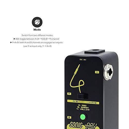 SONICAKE Pedal de efectos Sonic ABY True Byapss AB Box Selector de línea