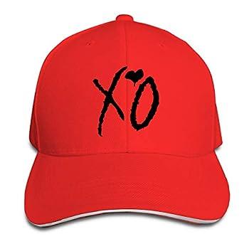 Unisex Clean Up Adjustable Hat Adult Adjustable Hat XO Cotton Baseball Cap Dad-Hat Red