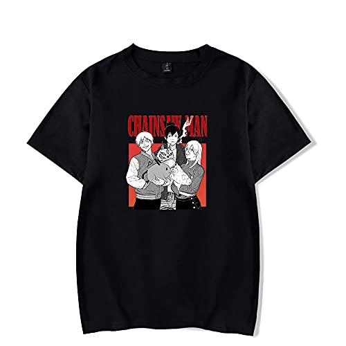 De.Pommeyeux Motosierra Hombre 2021 Anime 100% Algodón Camiseta Mujeres/Hombres Casual Manga Corta Camiseta