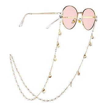 CapsA Eyeglasses String Holder Chain -Sunglasses Chain - Eyeglass Retainer for Women Eyewear Retainer Eyeglass Strap Holder Sunglass Retainer Strap Lanyards Eyewear Retainer for Women  B