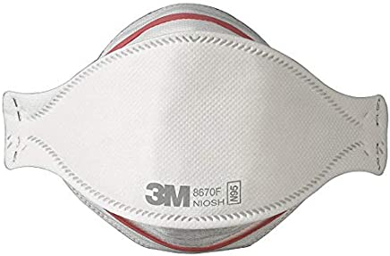 3M 8670F N95 Respirator Masks, Pandemic Influenza Flu Protection, Box of 20