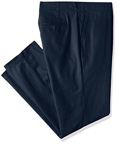 Nautica Men's Big and Tall Twill Flat-Front Pant, True Navy D83050, 44W x 34L