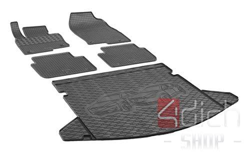 Passgenaue Kofferraumwanne und Gummifußmatten geeignet für Mazda CX-5 ab 2017 + Autoschoner MONTEUR