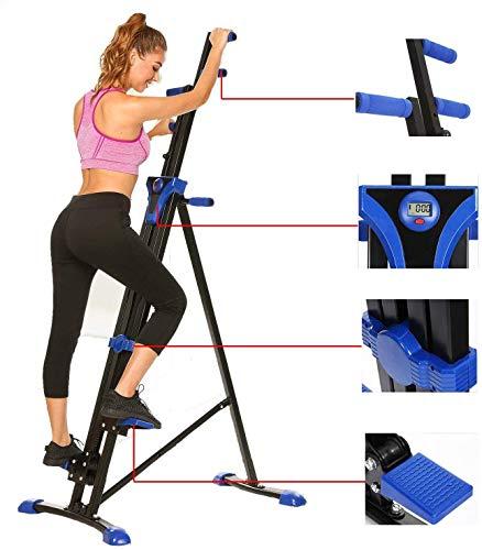 Stair Climber Machine Folding Climbing Exercise Machine Vertical Climbing Exercise Machine for Home Gym Fitness (Royal Blue)