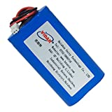 3.7V 6600mAh-24.42wh Rechargeable Li-ion Battery - VIDAR Real Capacity Super Durability Lithium Batteries with JST 2.0/2P Plug for Electronics, Toys, Lighting, Equipment