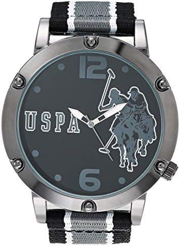 U S Polo Assn Men s Quartz Watch with Nylon Strap Multicolor 16 Model USC57023AZ product image