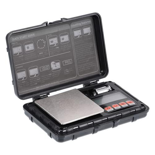 OurLeeme Báscula Digitales de Precisión, 50g / 0,001g Balanzas de Portátiles Báscula de Joyería,con Pantalla LCD y 6 Unidades Función de Tara, Peso de Cocina,para Cocinar, Café