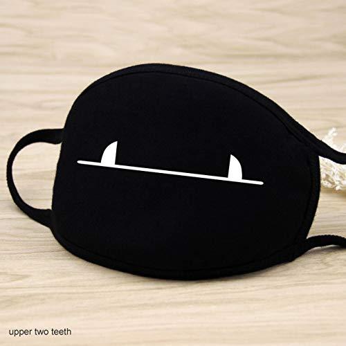 1 Stück 12 Style Baumwollmasken Warm halten Cartoon Schöne Gesichtsmundmaske Tarnung Mund Muffel Atemschutzmaske Unisex China oberen zwei Zähne