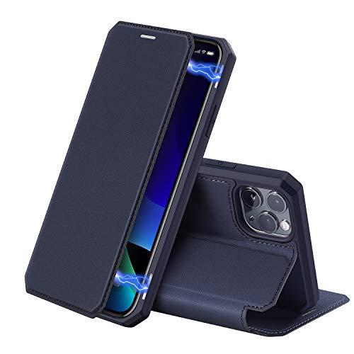 DUX DUCIS Funda para iPhone 11 Pro MAX - 6.5', Cuero Premium Cierre Magnético Flip Folio Carcasa para Apple iPhone 11 Pro MAX (Azul)