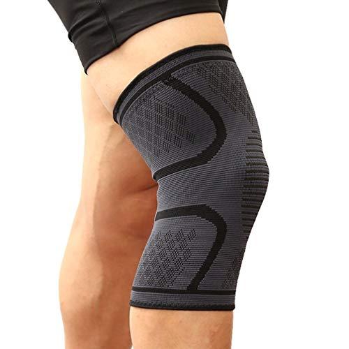 Kniebandage für Sport, lindern Gelenkschmerzen, komfortabel, atmungsaktiv, langlebig - geeignet für Männer und Frauen, stabiler in Sport und Alltag (L (42-47cm), Schwarz)