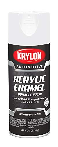Krylon Automotive Acrylic Enamel, Gloss, White, 12 oz, Model Number: KA8604007