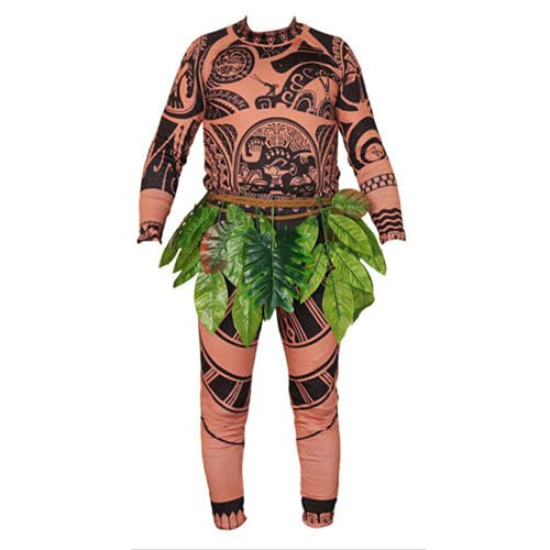 Halloween Christmas Cosplay Costumes for Kids Maui Tattoo T Shirt and Pants Cartoon Costume Party Outfit