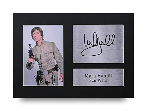 HWC Trading Mark Hamill geschenken ondertekenen A4 gedrukt autogram Star Wars Luke Skywalker drukfoto-fotomodicatie