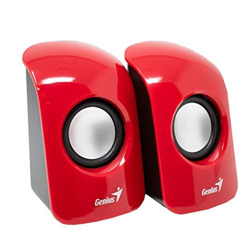 iChoose® Multimedia compacte luidspreker 2.0/USB stroomvoorziening set luidspreker voor pc/Mac/laptop/notebook Rood