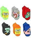 Spongebob Squarepants Boys Girls Toddler 6 pack Socks (Shoe: 10-4 (Sock: 6-8), Multi)