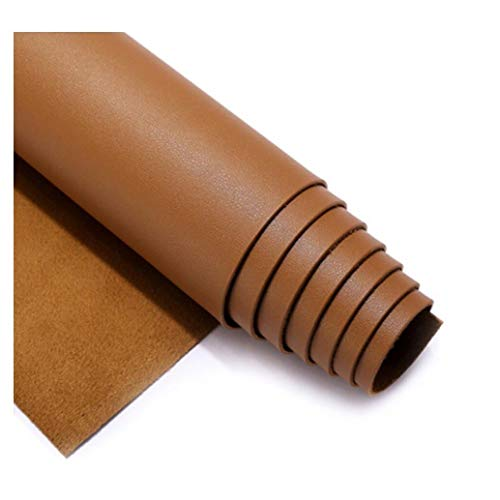 GLFYHG DIY Similicuir Matière Imitation Cuir Tissu PU Art Artisanat leathercloth - Tissu Faux Cuir - pour ameublement, canapé, chaises,Jaune Marron (Size : 1.38×0.5m)