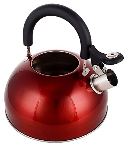 Zomoza 1pc Stainless Steel 3L Kettle Induction Cooker Camping Kettles Stove Whistling Water Gas Teapot Cooking Tools Kitchen Multi Color Send