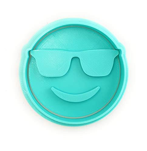 Molde Cortador de Galletas – Emoticono Gafas de Sol (Turquesa)