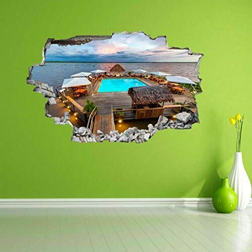 Pegatinas de pared Río flotante piscina pared arte pegatina mural calcomanía decoración del hogar