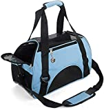 ZaneSun Cat Carrier,Soft-Sided Pet Travel Carrier for Cats,Dogs Puppy Comfort Portable Foldable Pet Bag Airline Approved (Small Blue)