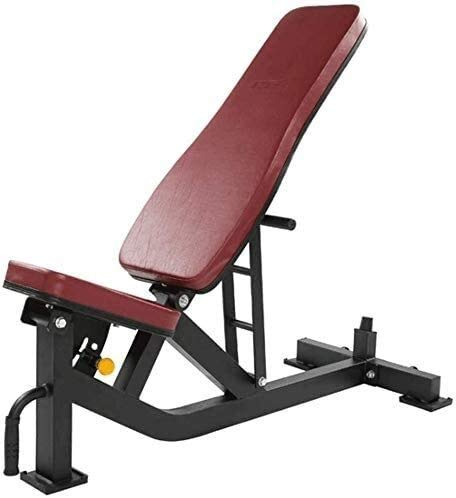 GANE Klappbare Hantelbank Verstellbare 90 ° flach, faltbar Dumbell Workout Abs Beinstange Hantel Gym Home Fitness Stuhl, Bauchmuskeltraining