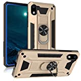 Tznzxm ZTE Avid 579 Case, ZTE Blade A3 2020 Case,[ Military Grade ][Impact Resistant][Defender][Metal Ring Grip ][Magnetic Car Mount] Kickstand Protective Shockproof Case for ZTE Avid 579 Gold