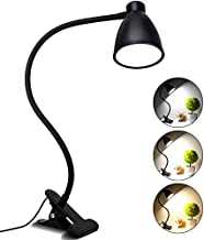 TBTeek 38 LED Desk Lamp, Eye-Caring Clip on Reading Light,3 Lighting Modes with 10 Brightness Levels, 360 ° Flexible Gooseneck, 1Minute Timer, Memory Function Book Light