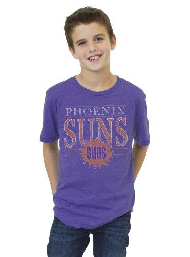 NBA Phoenix Suns Youth Vintage Heather Short Sleeve Crew T-Shirt, Plum, X-Small