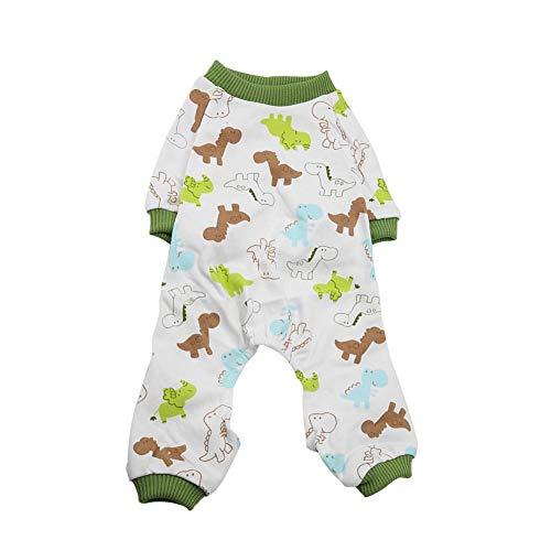 TOPINCN Cachorro de Perro Algodón Mono Gato Pequeño Mascota Mamelucos Pijamas Ropa Suave Cómodo Ropa para Mascotas Inicio Traje Diario(L)
