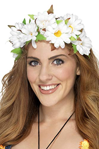 Smiffys Dames madeliefjes haarband, One Size, Wit, 42797