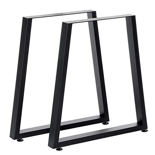QAQA 71cm Tischbeine Metall Möbelbeine mit Anti-Rutschboden Pads Trapezoidreh Raum Schreibtisch Beine Home Küche Möbel Zubehör