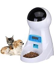 Belopezz 猫用自動給餌器 犬と猫の自動ペットフィーダー,日本語取扱書がついて (3 リットル)
