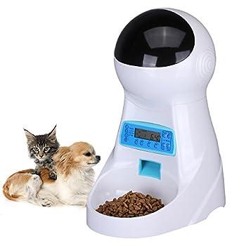 UMEI 3Litre Distributeurs Automatiques de Nourriture Automatique Pet Feeder pour Chien et Chat (Automatic Feeder M66)