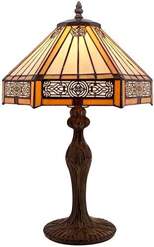 Tifani Lámpara Hexagonal Color Vidrio Lámpara de Láminas Lectura Iluminación Pulgada Lámpara Sala de estar Dormitorio Arte
