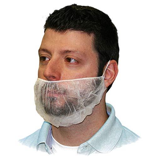 Beard Cover, Tezam 18' Disposable Non-woven Beard Net Covers Comfortable Protective Beard Nets, Safe & Clean Work Environment, 100PCS