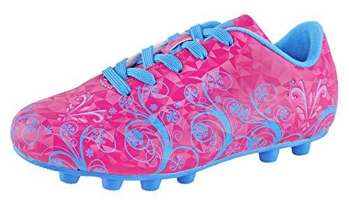 Vizari Youth/Jr Frost FG Soccer Cleats | Soccer Cleats Girls | Kids Soccer Cleats | Outoor Soccer Shoes | Pink/Blue 11.5 Little Kid