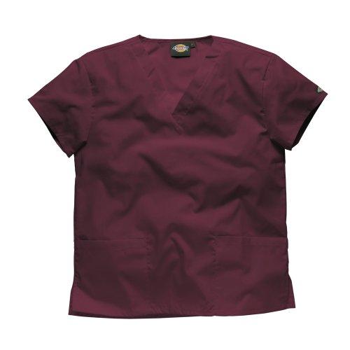 Dickies Workwear Schlupfhemd Medizin 2 Taschen mit V-Ausschnitt XL Bordeaux