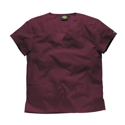 Dickies Workwear Schlupfhemd Medizin 2 Taschen mit V-Ausschnitt M Bordeaux