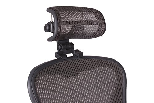 The Original Headrest for The Herman Miller Aeron Chair H3 Lead | Colors and Mesh Match Classic Aeron Chair 2016 and Earlier Models | Headrest ONLY - Chair Not Included