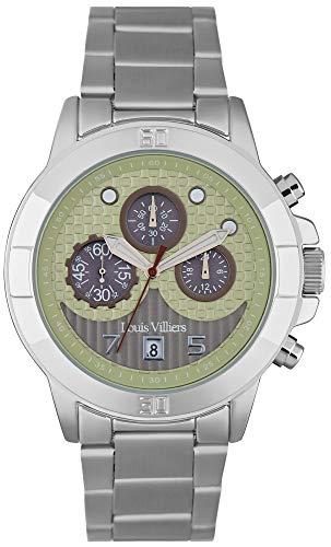 Louis villiers Reloj para Hombre Analógico de Cuarzo con Brazalete de Acero Inoxidable LVP1904