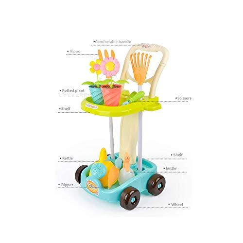 Tuingereedschap Speelgoed Trolley, Outdoor Tuingereedschap Play Set, Inclusief 12 Accessoires