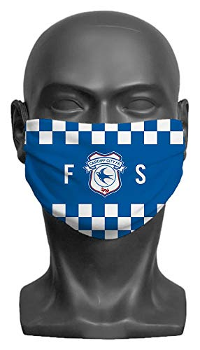 Personalised Cardiff City FC Initials Adult Face Mask- Large