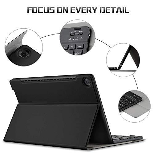 IVSO Tastatur Hülle für Huawei MediaPad M5 10.8, [QWERTZ Deutsches Layout] Keyboard Case, SmartShell Tastatur für Huawei MediaPad M5 10.8 Pro / M5 10.8 Zoll 2018 Modell, Schwarz - 6