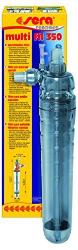 sera multi fil 350 Filtermedienbehälter zum Anschluss an eine Pumpe bzw. Außenfilter am Aquarium, zur Erweiterung des Filtervolumens für Filtermaterial, Filterkohle, Torf, Algovec, Phosphat & Silikat