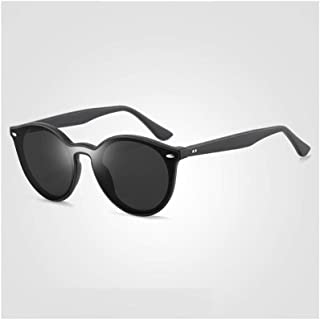 ZMP Ultra-Light TR Fashion Classic Sunglasses Trend Big Anti-UV Unisex Lens Colorful Sunglasses (Color : Black)