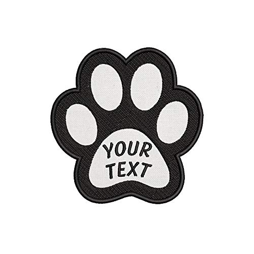 Custom Personalized Your Name Dog Paw Embroidered Premium Patch DIY Iron-on or Sew-on Decorative Badge Emblem Vacation Souvenir Travel Gear Clothes Appliques