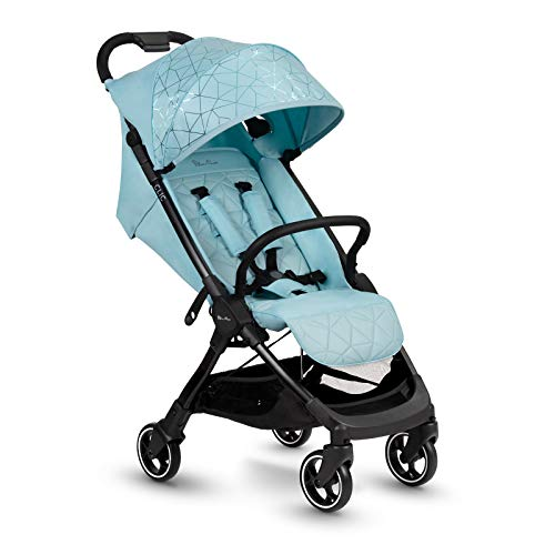 Silver Cross Clic stroller, compact and portable one-second fold baby to toddler pushchair - Aquamarine