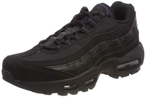 Nike Mens Air Max 95 Low Top Running Casual Sport Active Lace Up Trainer - Black - 7